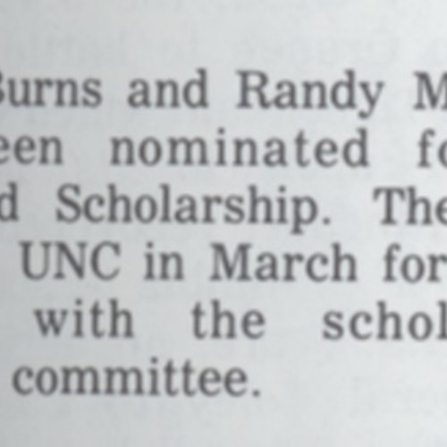 Morehead Scholarship Dec 1971.jpg