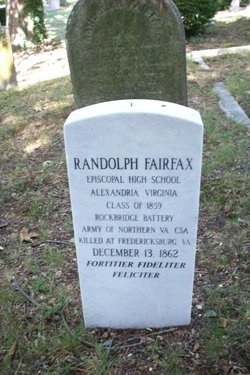 Randolph Fairfax's Headstone in Hollywood Cemetery, Richmond, Va